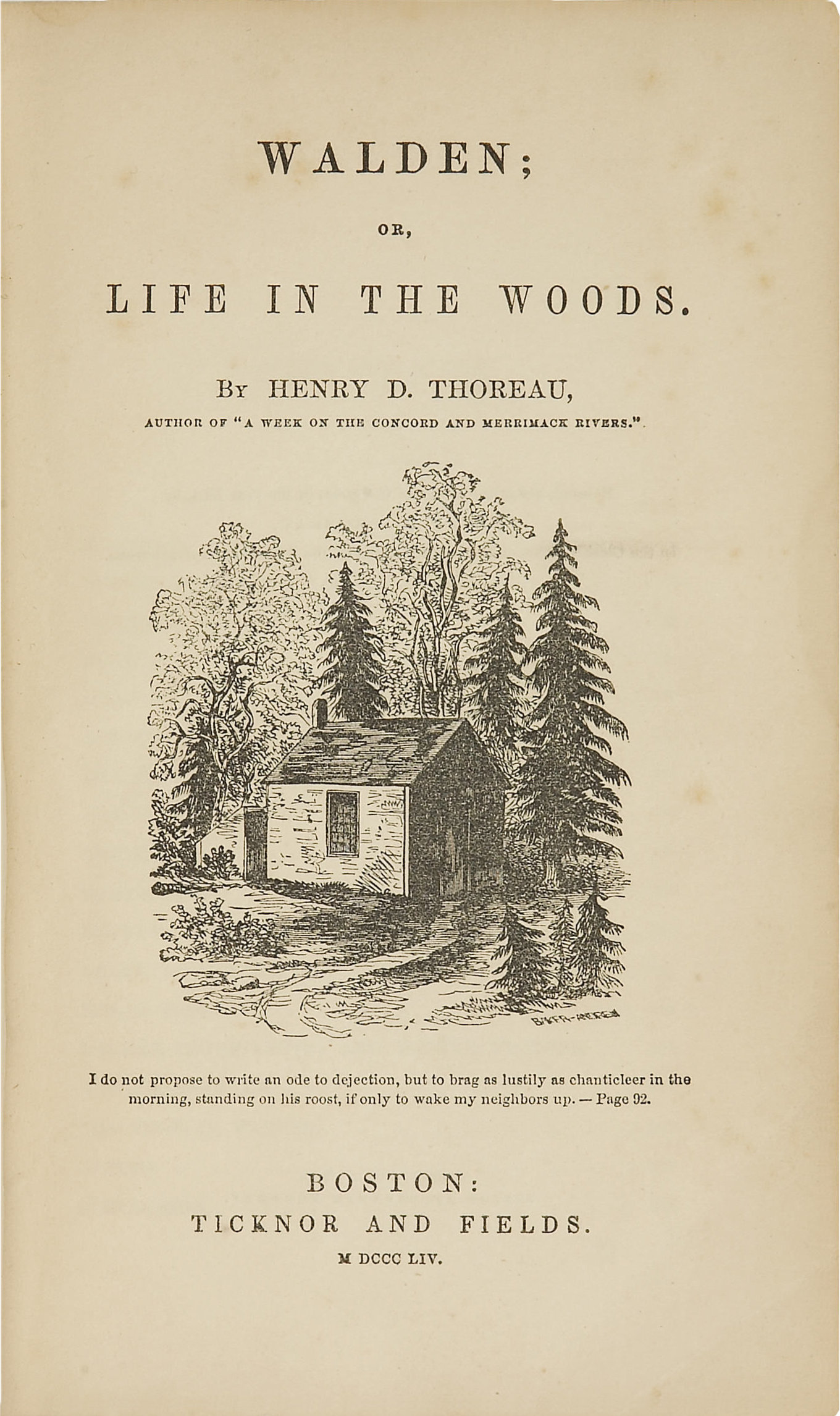 a reflection of simple reading in henry david thoreaus walden Come see this thoreau cabin he is best known for his book walden, a reflection upon simple if you would like to read more about henry david thoreau and.