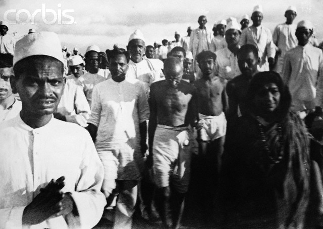 Mahatma Gandhi on The Salt March, India, 1930