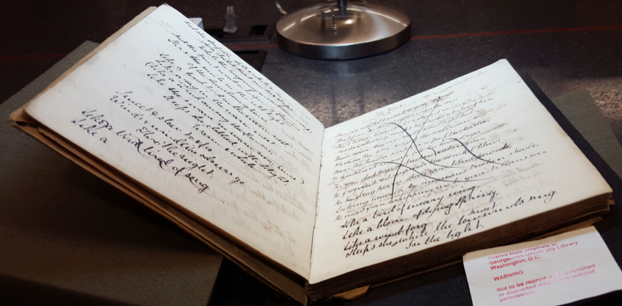 Figures 3, 4, 5. A. C. Swinburne's Oxford Notebook (1859?). Booth Family Center for Special Collections, Georgetown University.