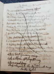 "Figure 6. A. C. Swinburne's Oxford Notebook (1859?), detail of ""The Birch."" Booth Family Center for Special Collections, Georgetown University."