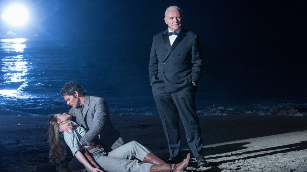 Anthony Hopkins, Evan Rachel Wood and James Marsden in Westworld