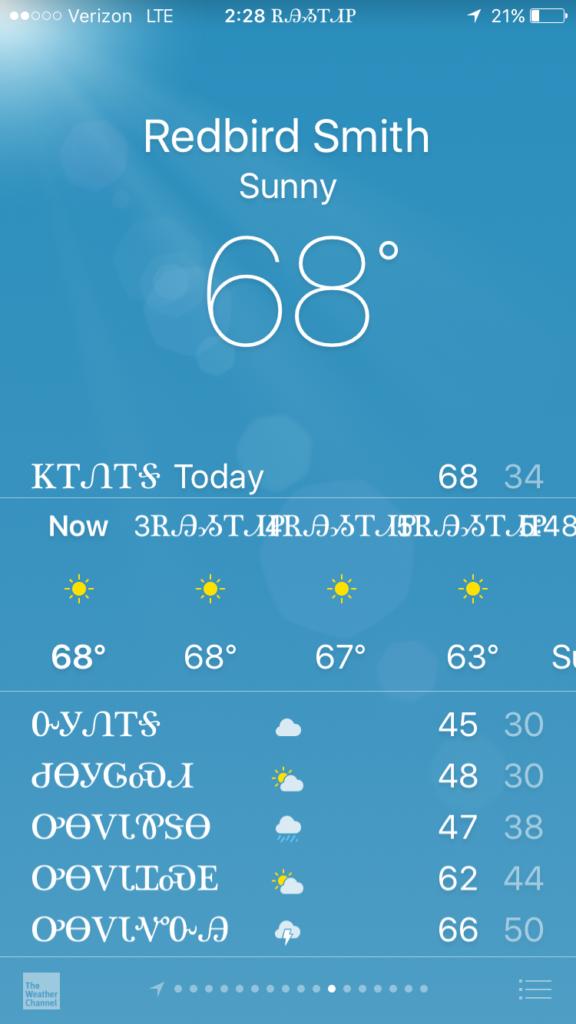 Figure 3. Weather in Cherokee