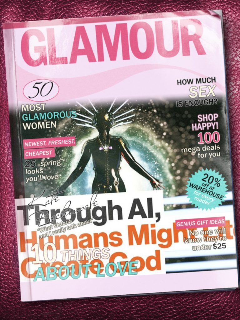 """Through AI, Human Might Literally Create God"" (image source: video by Big Think (IBM) and pho.to)"