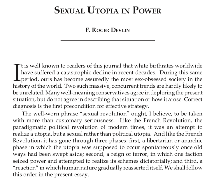 The first paragraphs of Sexual Utopia in Power