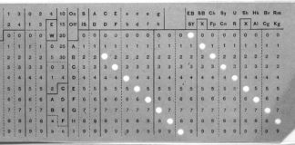 Hollerith punch card (image source: Library of Congress, http://memory.loc.gov/mss/mcc/023/0008.jpg)