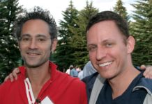 Alex Karp and Peter Thiel at the Sun Valley conference in 2009